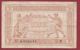 1 Francs (Trésorerie Aux Armées)  F/TTB+---1917-1919---N°0.092.681 ---Série -P - Tesoro