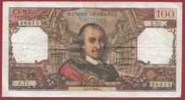 """100 Francs """"Corneille"""" Du 04/02/1966.L ---VG/TTB---ALPH -Z.75 - 1962-1997 ''Francs''"""