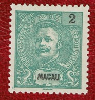 Macau 1903 D. Carlos I #129 MNG - Macao