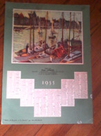 Calendrier Publicitaire De La Fromagerie - Roger Lafrasse - Annecy - 1955 - Calendriers