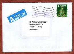 Luftpost, Weihnachtsbaum Sk, Liege Nach Leonberg 2018 (79709) - Belgium