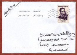 Luftpost, EF, St Maurice Nach Leonberg 2019 (79710) - France