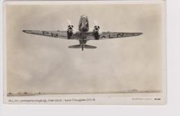"Vintage Rppc KLM K.L.M Royal Dutch Airlines Douglas Dc-3 Named ""Nandoe"" Aircraft - 1919-1938: Between Wars"