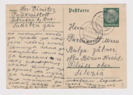 #40844 Germany 1940 Postal Stationery PSC Clear Cds. DUX Sudetenland Czech - Germany