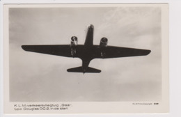 """Vintage Rppc KLM K.L.M Royal Dutch Airlines Douglas Dc-2 Named """"Gier"""" Aircraft - 1919-1938: Fra Le Due Guerre"""