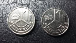 Belgien - Zwei 1-Franc-Münzen - 1993 - 1951-1993: Baudouin I