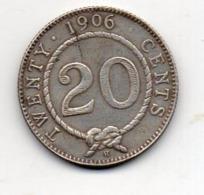 SARAWAK : 20 Cts 1906 - Monnaies