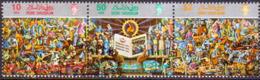 BRUNEI 1987 SG 411-413 Compl.set In Strip Of 3 Used Language And Literature Bureau - Brunei (1984-...)