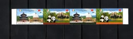 IVORY COAST- R. CHINA, 2013, ELEPHANTS, PANDAS Strip Of 4v.  MNH** Scott  $-?? - Gorilas