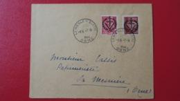 Lettre De Mesle Sur Sarthe Septembre 1944 Timbres Surcharge Libération De Alençon TB Voir Scans - Libération