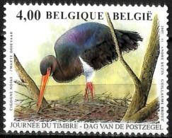 D - [154551]TB//**/Mnh-Belgique 2005 - N° 3388, Cigogne Noire, Buzin, Oiseau, Journée Du Timbre, SNC - Picotenazas & Aves Zancudas