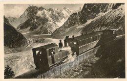 74 CHAMONIX MONT BLANC TRAIN A CREMAILLERE MONTENVERS GLACIER MER DE GLACE Editeur MORAND 682 - Chamonix-Mont-Blanc