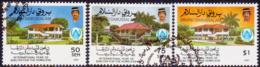 BRUNEI 1987 SG 418-420 Compl.set Used Shelter For The Homeless - Brunei (1984-...)