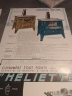 Lot De Prospectus De Poêle Et Cuisinière  Coste & Caumartin à  Lacanche (cote D-Or) - Werbung