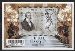 France 2012 Bloc Feuillet N° F4706 Neuf France Suède Bal Masqué à La Faciale - Mint/Hinged