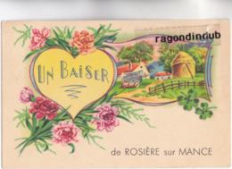 CPA - 70 - ROSIERE-sur-MANCE (Haute-Saône) - Un Baiser De Rosiere Sur Mance - CARTE RARE 1949 - - Frankreich