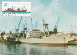 Carte Maximum Bateau Ship Pologne - Maximumkarten