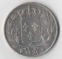 5 FRANCS LOUIS XVIII 1821 A - France