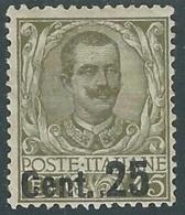 1924-25 REGNO FLOREALE SOPRASTAMPATO 25 SU 45 CENT MH * - RB3-4 - Mint/hinged