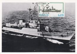 Carte Maximum Bateau Ship Italie 1978 - Maximumkarten (MC)