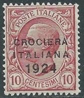 1924 REGNO CROCIERA ITALIANA 10 CENT MNH ** - RB3-4 - Mint/hinged