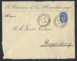 904d.International Simple Closed Letter. Post Office 1899 Aleksandrow Pogranichny (Poland) Regensburg (Germany). - Lettres & Documents