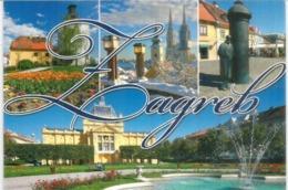 The BEST Zagreb Sights & Landmarks ,postcard Written On The Back. - Kroatien