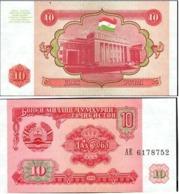 Tajikistan 10 Rubles 1994 UNC - Turkménistan