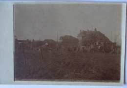 Frankreich Rœux Dreschkommando Fotokarte Mit Ortsangabe (1539) - Weltkrieg 1914-18