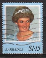 Barbados Single $1.15c Stamp From The 1998 Princess Diana Series. - Barbados (1966-...)