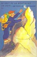 74 CHAMONIX MONT BLANC CARTES A SYSTEME AVEC VUES DE CHAMONIX DU HAUT DE LA MONTAGNE ON VOIT AU PAYS DU MONT BLANC 20 - Chamonix-Mont-Blanc