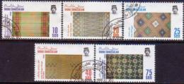 BRUNEI 1988 SG 428-32 Compl.set Used Handwoven Material (1st Series) - Brunei (1984-...)