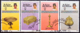 BRUNEI 1988 SG 434-37 Compl.set Used Brassware (2nd Series) - Brunei (1984-...)