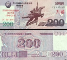 North Korea 200 Won 2018 UNC 70th Anniv. Of  Independence - Korea, North