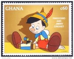 450 Ghana Disney Movie Pinocchio Jimini Cricket MNH ** Neuf SC (GHA-112a) - Ghana (1957-...)