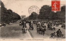 Paris 1918 - Avenue Du Bois-de-Boulogne - Calèches Et Tacots - ND 2943 - Arrondissement: 16