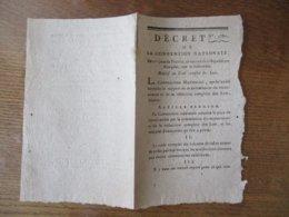 DECRET DE LA CONVENTION NATIONALE DU 11e JOUR DE PRAIRIAL AN SECOND DE LA REPUBLIQUE RELATIF AU CODE COMPLET DES LOIS - Decrees & Laws