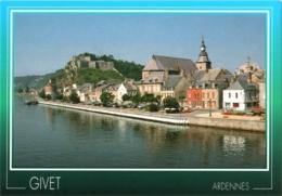 CPM 08 (Ardennes) Givet - Péniches Et Bords De Meuse, Fort De Charlemont, église Saint-Hilaire Et Tour Victoire TBE - Givet