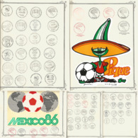 J) 1986 MEXICO, STADIUM CANCELLATION GAMES SET, XF - Mexico