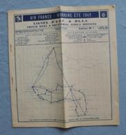 Brochure Originale AIR FRANCE Lignes A.O.F  Et A.E.F Horaires  ETE 1949 De 10 Pages Timetable - Horaires