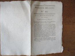 PROCLAMATION DU ROI AUX ARMEES AU CHÂTEAU DES TUILERIES LE 12 MARS 1815 BULLETIN DES LOIS N°93 - Decrees & Laws