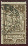 ITALIA REGNO VITTORIO EMANUELE III SASS. 118 USATO - 1900-44 Victor Emmanuel III.