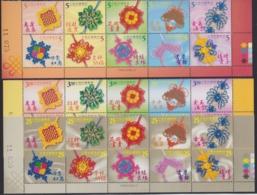 "Taiwan - Republic Of China 2002, ""Fortunate Knittings"", 3 Blocks Of 10, Mint Never Hinged - 1945-... Republiek China"