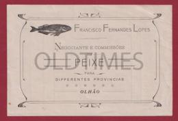 PORTUGAL - OLHAO - FRANCISCO FERNANDES LOPES - NEGOCIANTES E COMMISSOES EM PEIXE - 1920 OLD PAPER - Portugal