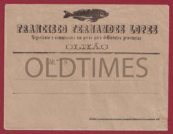 PORTUGAL - OLHAO - FRANCISCO FERNANDES LOPES - NEGOCIANTES E COMMISSOES EM PEIXE - ENVELOPE 1920 OLD PAPER - Portugal