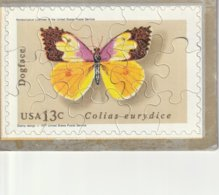 Crossword Puzzle Post Card USA 13 C  Colias Eurydice - Stamps (pictures)