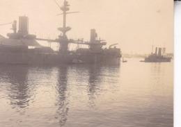 VENISE 1927 Bateau Navire De Guerre Dans Le Port Photo Amateur Format Environ 7,5 Cm X 5,5 Cm - Boats