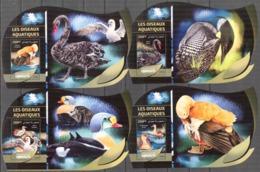 D{106b} DJIBOUTI 2016 WATER BIRDS SWAN DUCKS SET OF 4 S/S DELUXE MNH** - Djibouti (1977-...)