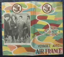 Depliant Originale Voyagez Avec AIR FRANCE De C1948 Brochure - Autres