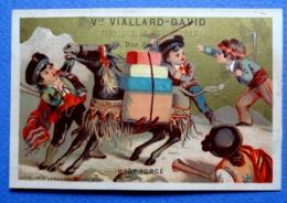 CHROMO  DORÉE... VIALLARD/CLERMONT FERRAND..LITH. VIEILLEMARD..ESPAGNE....IMPÔT FORCE...ATTAQUE DU CHARGEMENT D'UN ÂNE - Other
